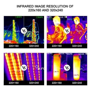 Image 5 - Ręczna kamera termowizyjna 3.2 calowy ekran wyświetlacza kamera na podczerwień polowanie pomiar temperatury funkcje obrazowania termicznego