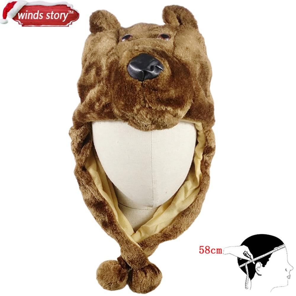 NUEVO 1 UNIDS Cartoon Animal Hat Fluffy Felpa Gorra Orejera Unisex - Para fiestas y celebraciones - foto 6