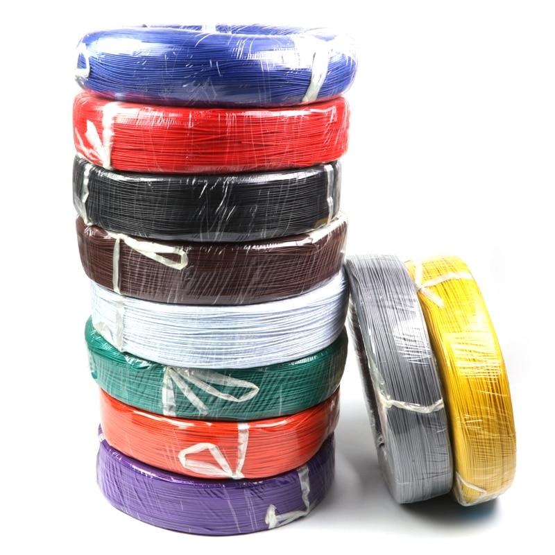 5 метров UL1007 провод 24awg 1 4 мм Электрический ПВХ кабель UL сертификация 10 цветов