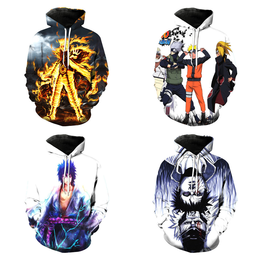 Amiable Hokage Costumes Uzumaki Naruto Hoodie Sweatshirt Cosplay Cartoon Clothing Series Fashion Hat 3d Vest Men's And Women's Jackets