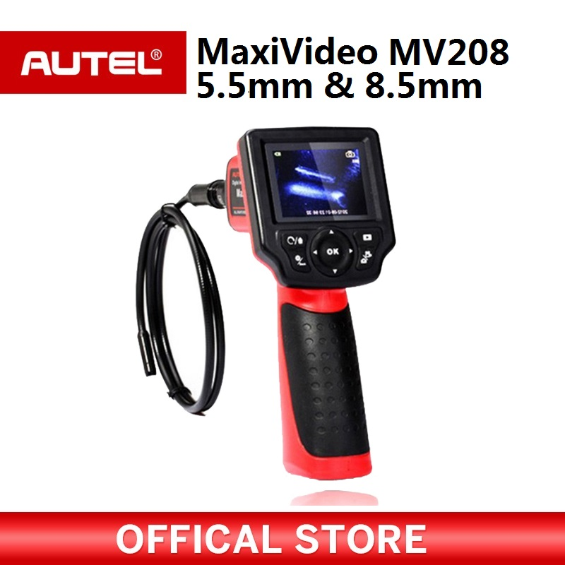 Autel Maxivideo MV208 цифровой видеоскоп 8,5 мм и 5,5 мм Диаметр изображений глав запись неподвижных изображений и видео и т. д.