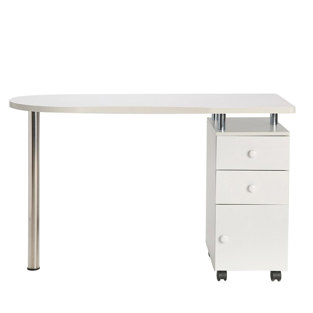 Writing Desk Computer Laptop Table Manicure Workstation Professional Nail Salon Technician Desk Hand-care Table White - US Stock