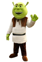 High Quality cosplay Costume New Shrek Mascot Costume Adult For Halloween Birthday party Free shipping