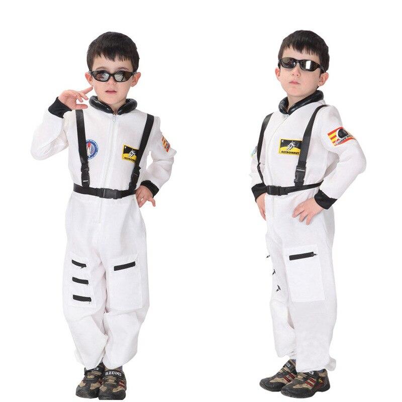 COSPLAY Halloween Costume Boys Children Stage Performances Astronauts Spacesuit Clothes Set Prop M L XL аксессуары для косплея cosplay