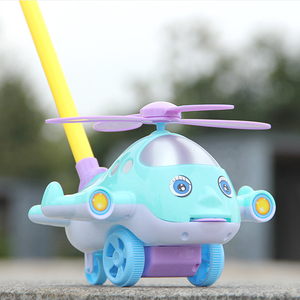 Baby Cartoon Baby Walker Cart Airplane Toy Kids Ride on Toy Gift for 1-3years old Children for Learning Walk Drag Plane Car(China)