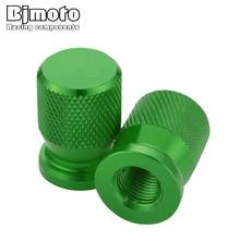 BJMOTO par neumáticos válvulas de neumáticos madre cubierta de aire tapas hermético Theftproof rueda para Kawasaki Z650 Z750 Z800 Z900 Z1000 ER6F ER6N