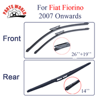 Kit Silicone Rubber Front And Rear Wiper Blade For Fiat Fiorino 2007 Onwards Windscreen Wiper Car