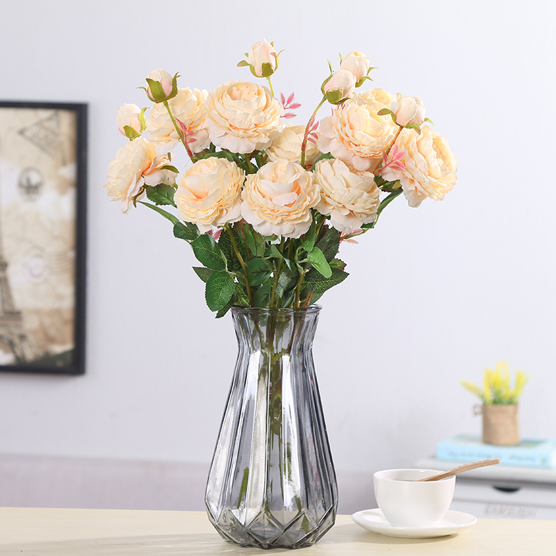 peony artificial roses flowers (6)