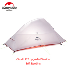 Naturehike Cloud Up Series Ultralight Camping Tent Waterproof Outdoor Hiking Tent 20D Nylon Backpacking Tent With Free Mat naturehike cloud up series 1 2 3 person ultralight tent camp equipment 20d nylon upgrade 2 man winter camping tent with mat