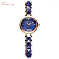 KIMIO 2016 Brand Imitation Ceramic Gold Watches Women Fashion Watch Luxury Quartz Watch Wristwatches Women S