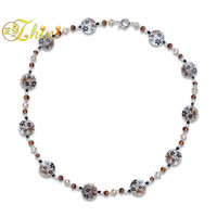 ZHIXI Real Freshwater Pearl Necklace Pearl Jewelry Big Natural Stone Long Sweater Chain New Trendy Gift For Women [X217]
