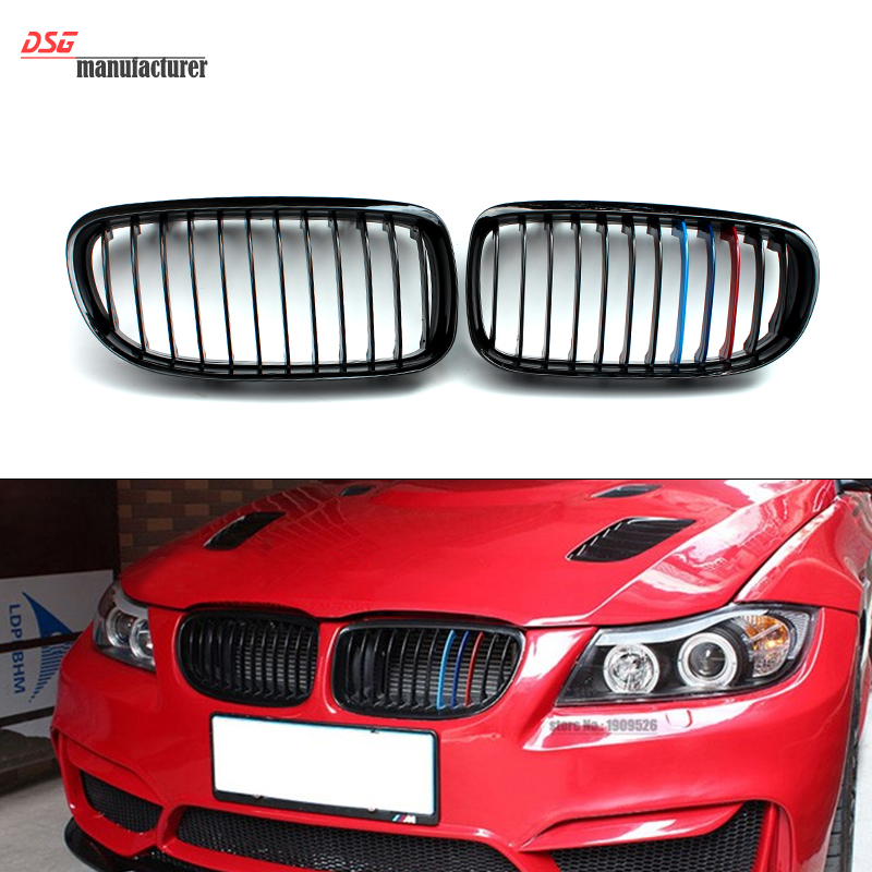 ФОТО E90 E91 ABS racing grill for Bmw 3 Series 325i 330i 328i 335i bumper grille