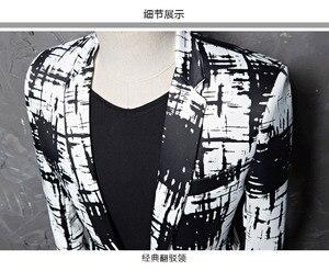 Image 4 - PYJTRL מותג M 5XL גאות גברים דיו סגנון Hit צבע אופנה פנאי חליפת מעיל בלייזר עיצובים Masculino Slim Fit תלבושות Homme