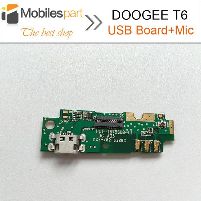 Doogee t6 placa usb + micrófono 100% originales de repuesto parte accesorios de fijación para doogee t6/homtom ht6 pro smartphone