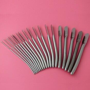 38Pcs/2Kits Dilator Set Dilator Urethral Sounds Urethral Stimulation Diagnostic Surgical Sounds 3.5mm -13mm