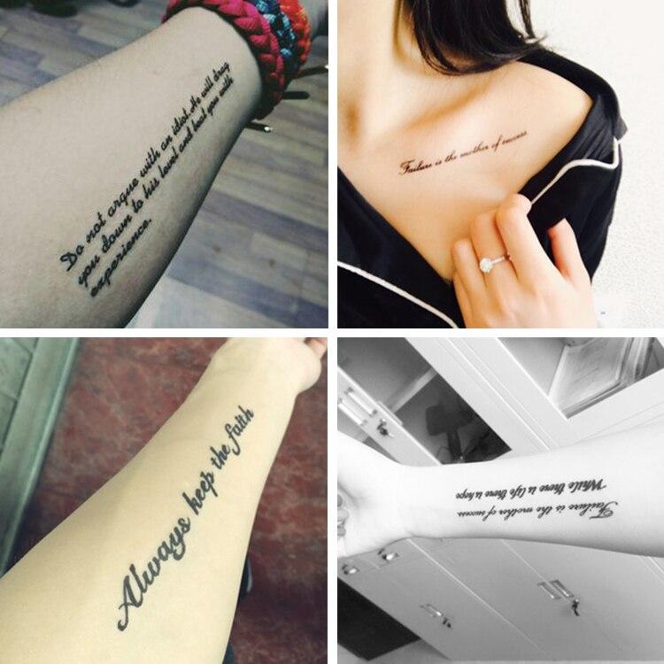Originales Pegatinas Tatuaje Impermeable De Los Hombres De Las