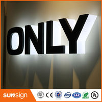 Wholesale advertising signboard halo lit led sign letters