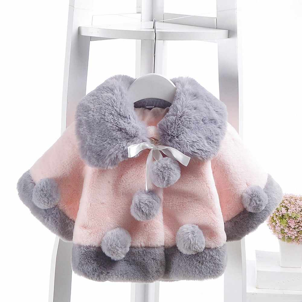 Christmas Baby Clothing Girl Infant Winter Warm Coat Cloak Jacket Wool Blends Thick Warm Clothes Down Outerwear & Coats SPT21