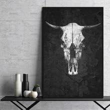 Картина на холсте настенная художественная картина HD печать черно-белое животное на холсте украшение для гостиной на холсте без рамки