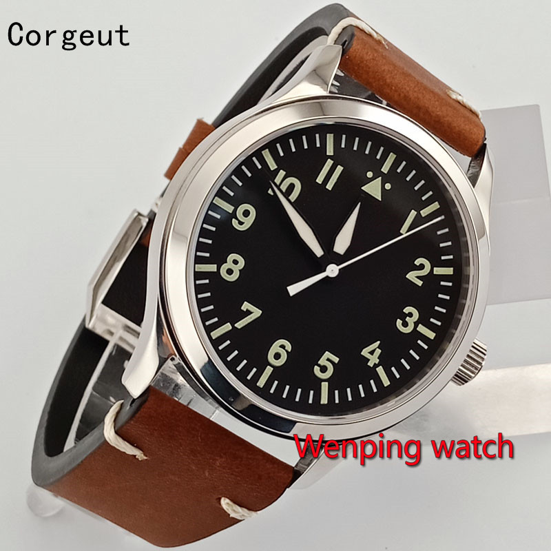 Corgeut 42mm Black Dial Automatic Casual Sport Novelty Luxury Dress Formal Automatic mens <font><b>Unisex</b></font> watchES W2618 image