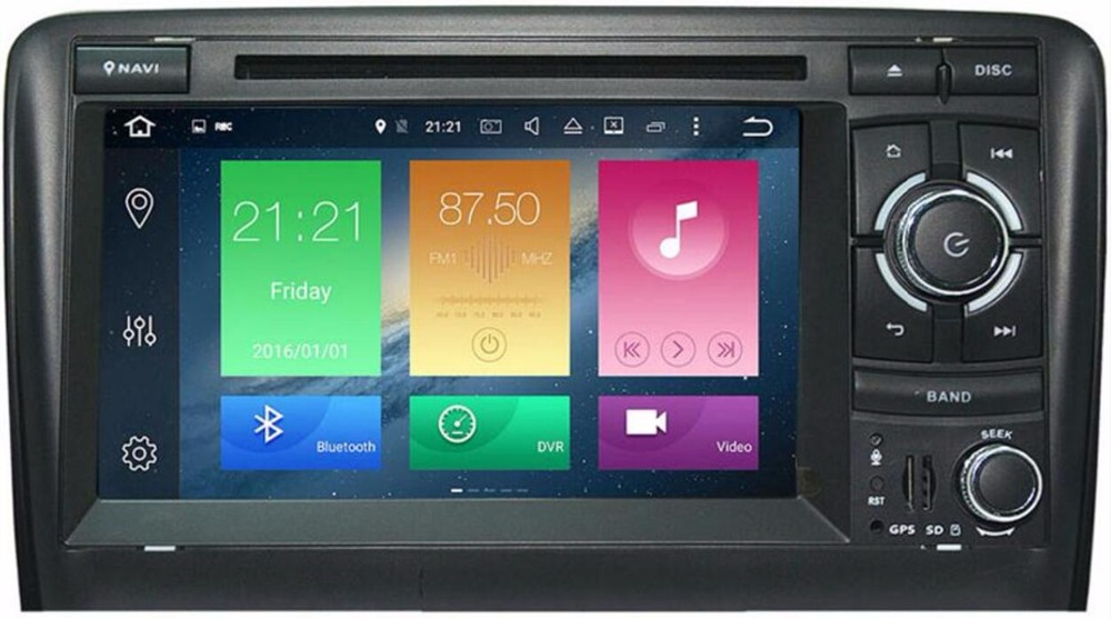 7 Android 8.0 OS Car DVD Multimedia GPS for Audi A3 2003-2012 & Audi S3 2006-2012 & Audi RS3 2011-2012 with 4GB RAM 32GB ROM