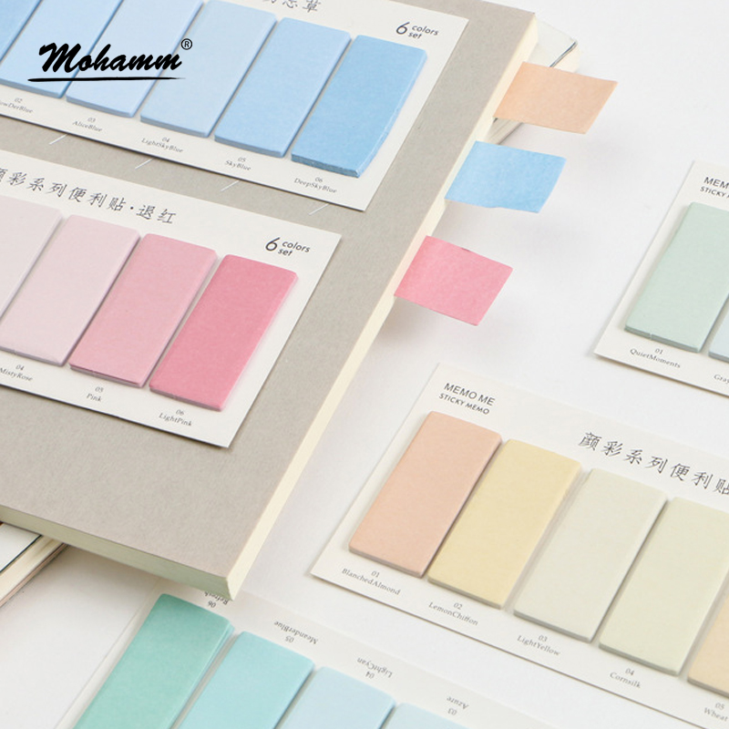 120 Sheets Creative Colorful Memo Pad Sticky Notes Memo Paper Index Bookmark Notebook Stationery School Office Supplies aihao rainbow candy colored stick markers book page index flag sticky notes bookmark office school supplies stationery
