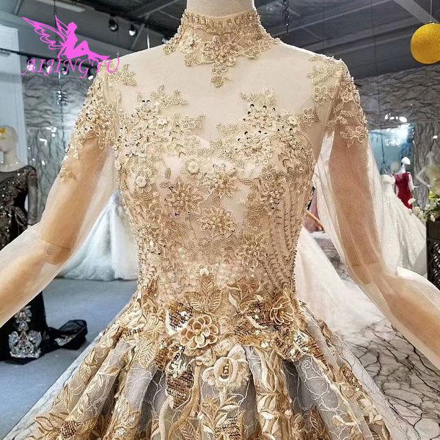 Aijingyu vestido de casamento muçulmano de manga longa onde comprar para vestidos de roupas de gordura trem mulher 2021 2020 incrível vestidos de casamento