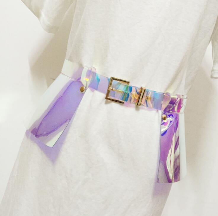 Women's Runway Fashion Transparent PVC Cummerbunds Female Dress Corsets Waistband Belts Decoration Wide Belt R1589