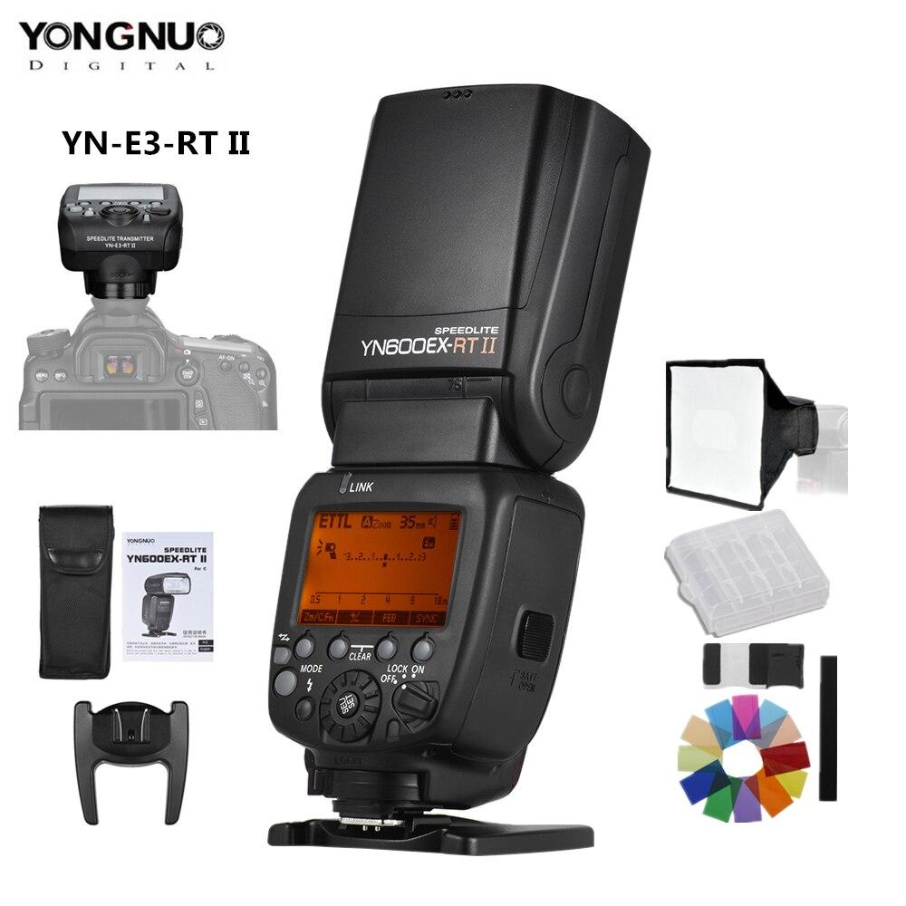 YONGNUO YN600EX-RT II Auto TTL HSS Flash Speedlite + YN-E3-RT II contrôleur déclencheur pour Canon 5D3 5D2 7D Mark II 6D 70D 60D etc.