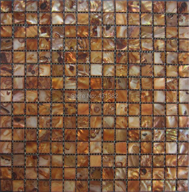 Neue Style HYRX Meer Blume Shell Mosaik Fliesen; Gold Perle Fliesen;  Perlmutt Mosaik