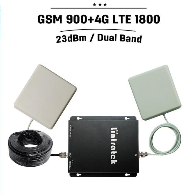 GSM 4 Г GSM Репитер 900 4 г Lte 1800 Dual Band Мобильный сигнал Повторителя 70дб Усиления Сотовый Телефон Booster Celular Усилитель Антенна Набор