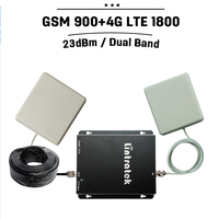 GSM Repeater 900 1800mhz Dual Band Full Kit Cell Phone Signal Repeater Amplifier GSM Repeater 1800