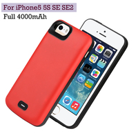 4000mAh For iPhone5 5S SE SE2 Power Bank Case Backup Battery Charge TPU Soft Edge Battery Case Cover