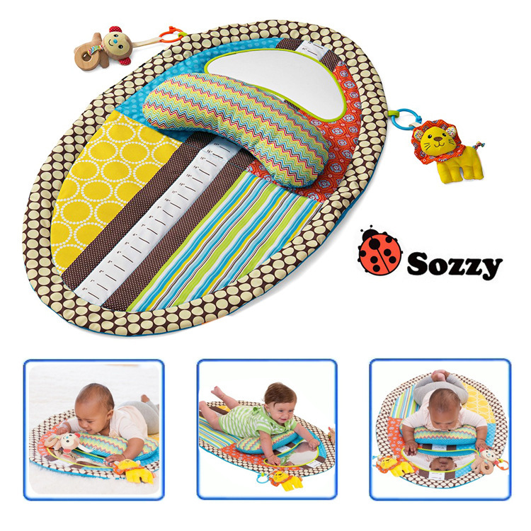 Sozzy Baby Play Mat With Cute Cartoon Animal Plush Doll Multifunctional Crawling Big Size Mat Baby Toys