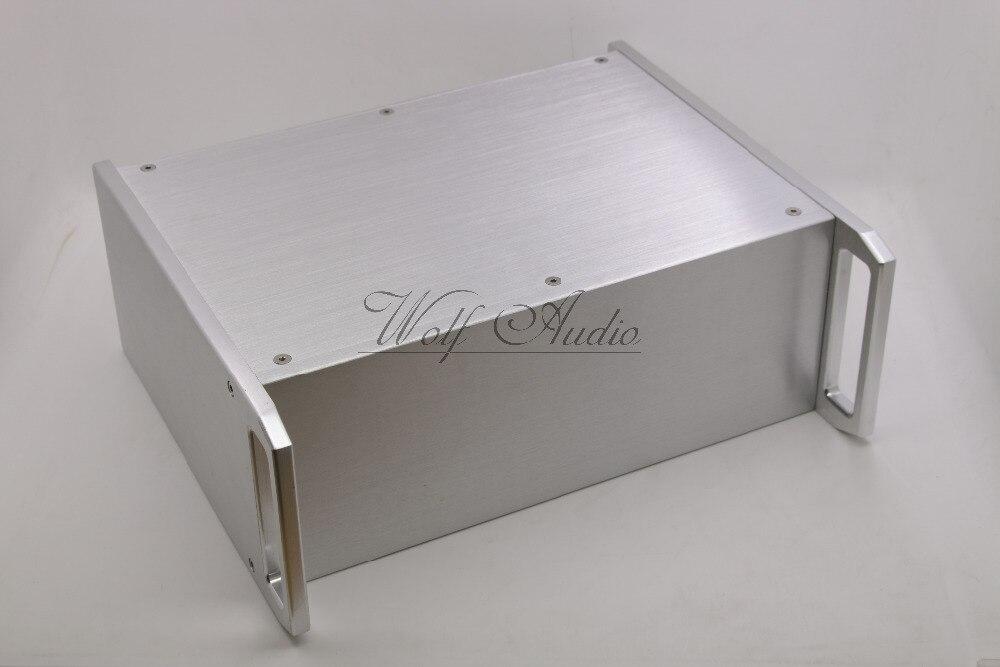 WF3212シルバーフルアルミシャーシアンプエンクロージャプリアンプケースチューブアンプボックスdiy  グループ上の 家電製品 からの アンプ の中 2