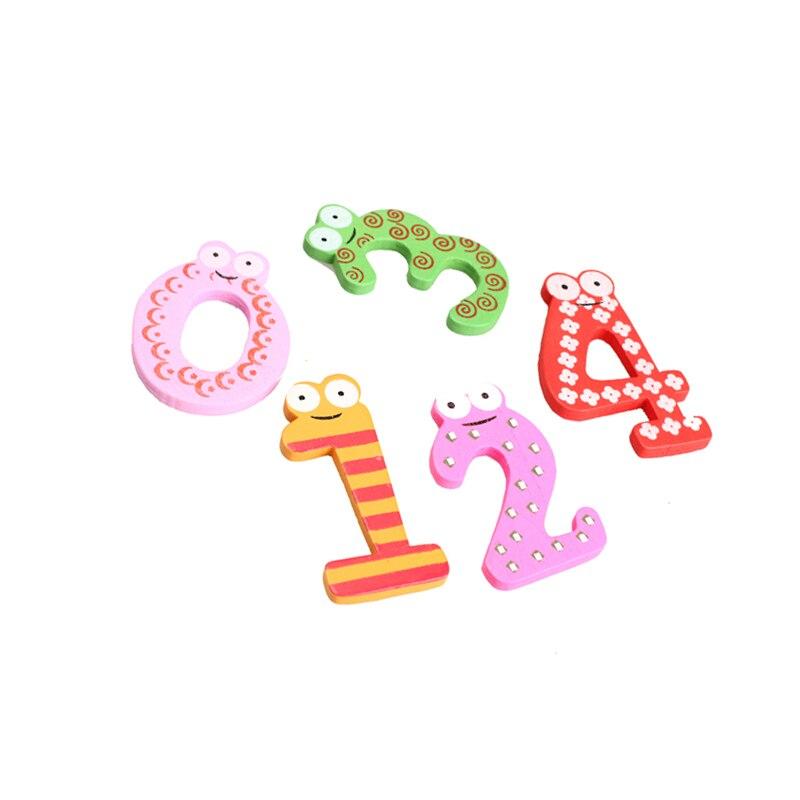 10Pcs/set Cute 0-9 Numbers Wooden Fridge Magnetic Animal Sticker Figure Toys