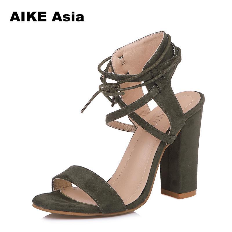 diseño elegante calidad y cantidad asegurada fina artesanía Sandalias de mujer de verano Sexy tacones altos sandalias para mujer  zapatos 10 cm tacones gladiador 34-43 dedo del pie bombas zapatos de verano