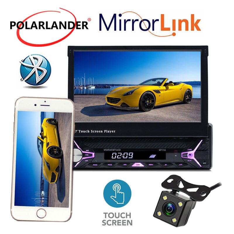 Autoradio radio lecteur cassette Mp5 Autoradio MP3/RDS/USB/SD/TF carte 1 Din 7 pouces main libre ecran tactile Bluetooth miroir Lin - 6