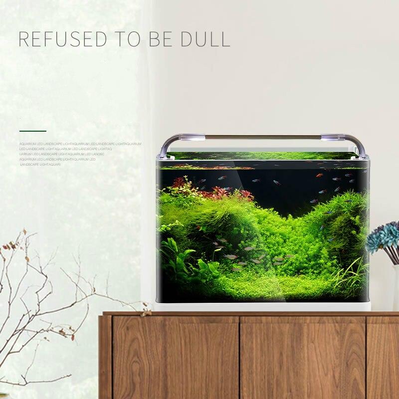 Aquarium de réservoir de poissons Aquarium de pliage chaud réservoir de poissons en verre Ultra-clair petite Table de bureau d'aquarium - 2