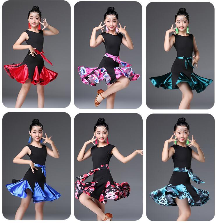 e62eef25507 Cheap Nuevo vestido de baile latino estándar de manga corta para niñas  vestidos de baile de