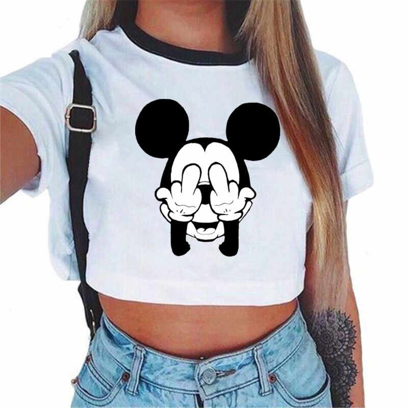 44db28b55923 ... 2018 Harajuku Summer Unicorn Alien Letter Printed Sexy Crop Top Women  Tank Tops Casual White Cropped ...