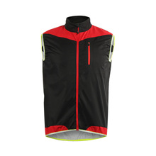 цена на ARSUXEO Cycling Vest For Outdoor Sports Running Cycling Breathable Windbreak Riding Vest Hygroscopic Sweat Releasing Safety Vest