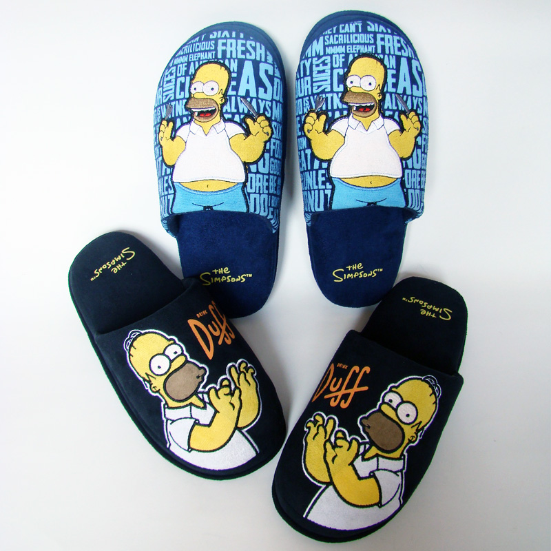 c90007bb988d2 Winter Men Shoes Homer Simpson Slippers Men s Footwear Cotton Chaussons  Simpson Home Slipper Zapatillas Casa-in Slippers from Shoes on  Aliexpress.com ...