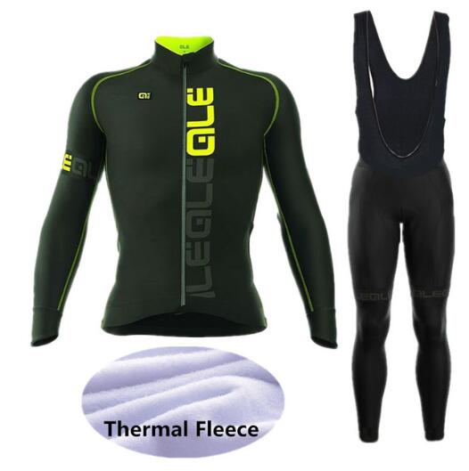 ALE Cycling Set Winter Thermal Fleece Long Sleeves Cycling Jerseys Ropa Maillot Ciclismo Bicycle MTB Bike Cycling Clothing W010 leobaiky 2018 brand cycling suit jerseys newest pro fabric wear long set bike clothing pants mtb bike maillot ropa cycling set