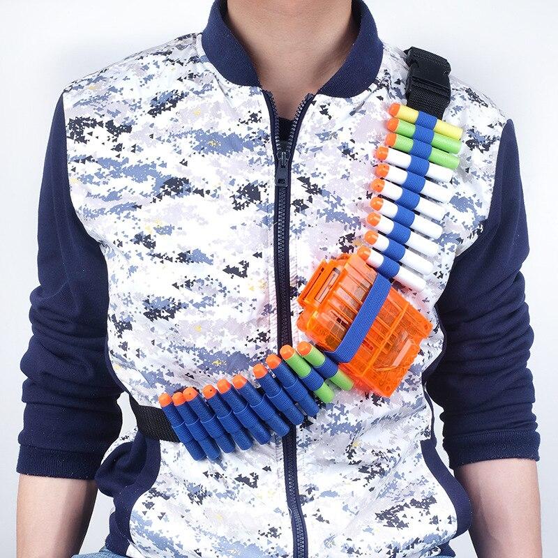 Синие детские игрушечный пистолет пуля плечевой ремень Дартс боеприпасы хранения держатель для мягкой воды патронташ игрушечный пистолет