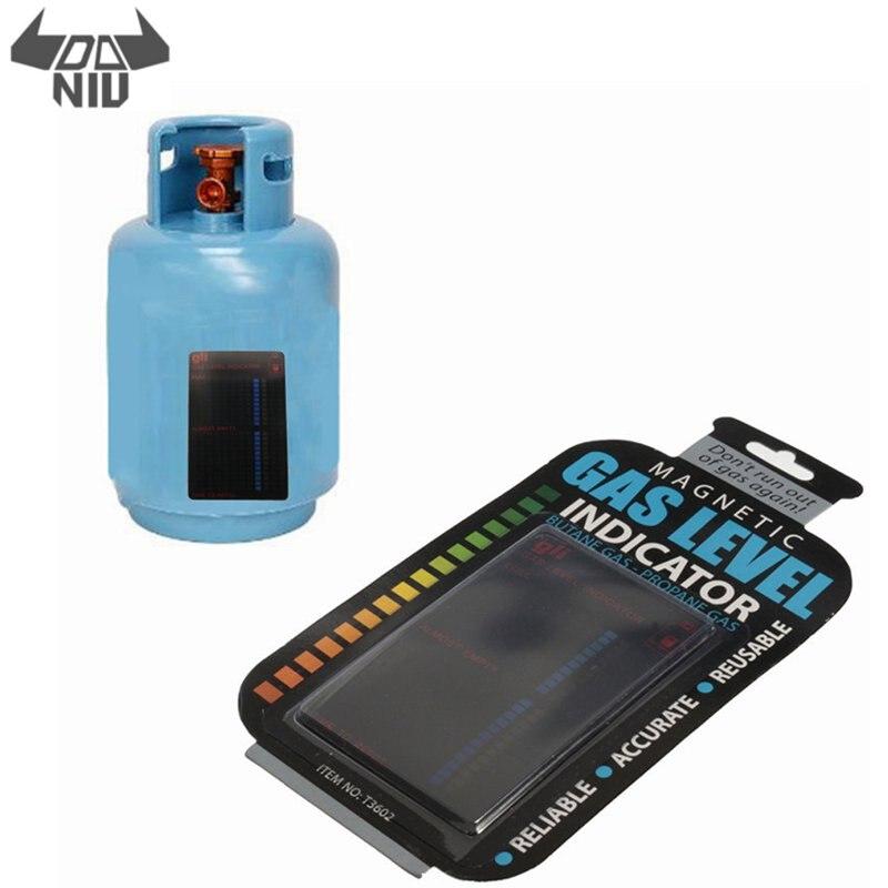 DANIU outil de bouteille de gaz magnétique indicateur de niveau de réservoir de gaz Propane Butane LPG jauge de carburant caravane bouteille mesure de température