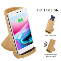 NEW Muti functional Stand Style Fast Wireless Charging Bracket Universal Qi Standard For iPhone 8 X Xiaomi MIX 2S Mobile Phones