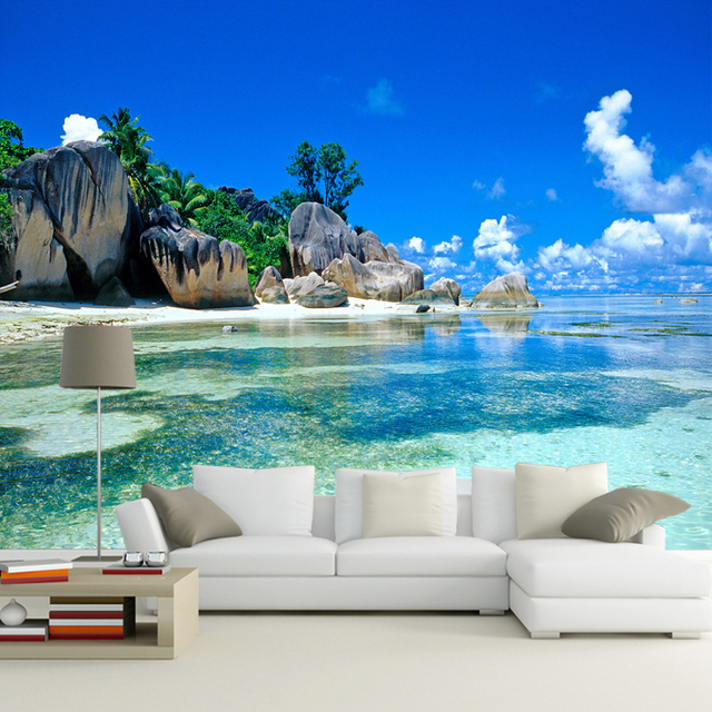 3D Photo Wallpaper Modern Seaview Murals Bedroom Living Room Sofa TV  Background Wall Mural Wall Paper