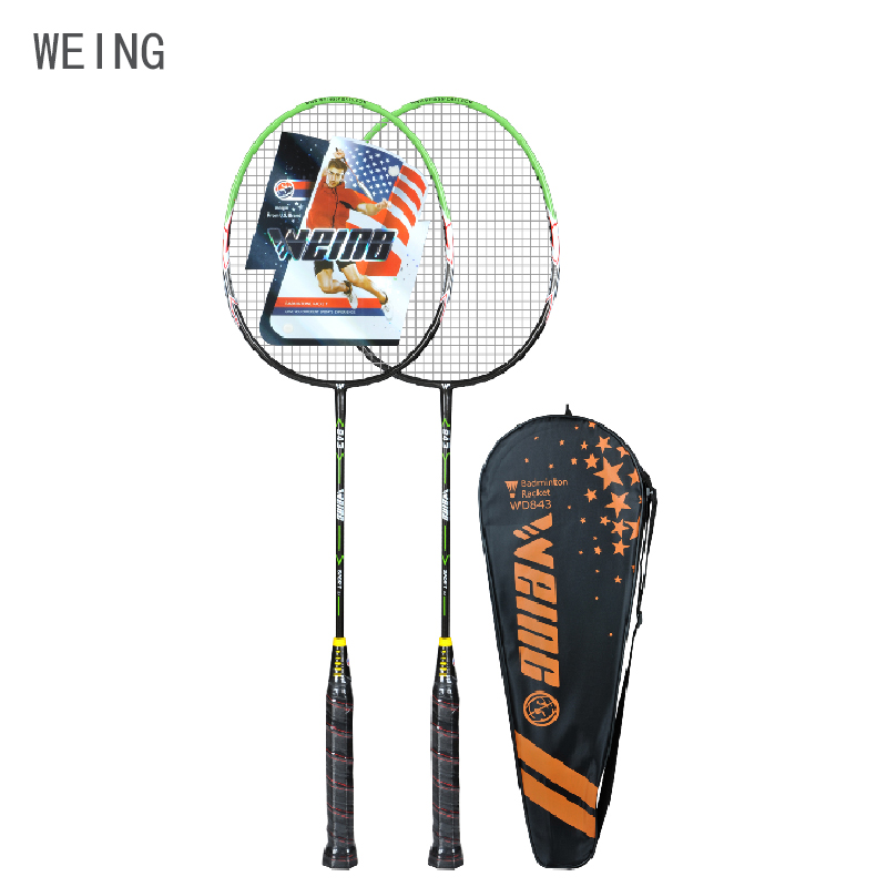 WEING WD-843 Iron Integral Badminton Racket Professional Offensive Strong Racket Training Indoor And Outdoor Bags