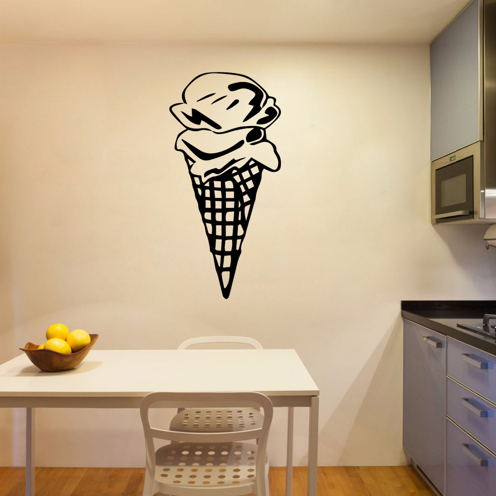 3D ice cream Home Decor Wall Stickers Removable Sticker Art Decoration DIY